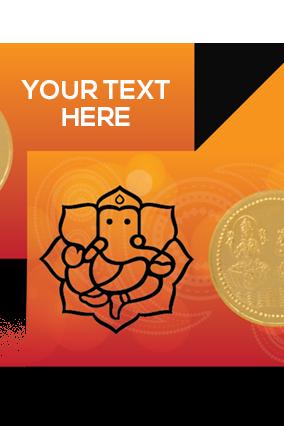 Designer Great Ganesh Laxmi Gold Coin