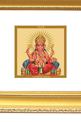 Gold Plated Ganesha Frame Dg - 1B