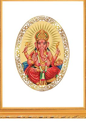 Gold Plated Ganesha Frame Dg S2 Royal