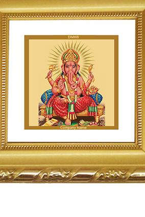 Gold Plated Ganesha Frame Dg-1A