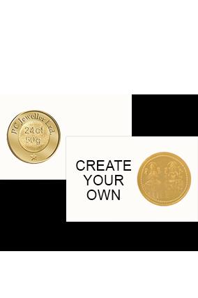 Create Your Own 50 Gm- 24K Laxmi Ganesh Pure Gold