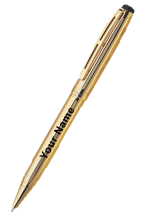 Pierre Cardin Gold Stone Bright Gold Exclusive Ball Pen Golden
