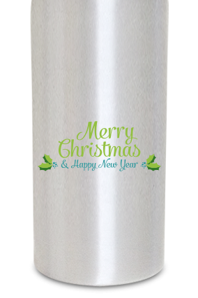Christmas Greetings 600ml Silver Sipper