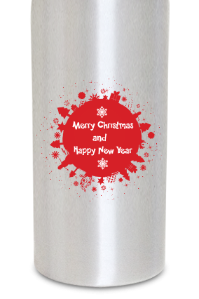 Happy New Year 600ml Silver Sipper