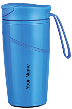 H139 - Mighty Stainless Steel Magic Coffee Mug With Silicon Strap - Blue