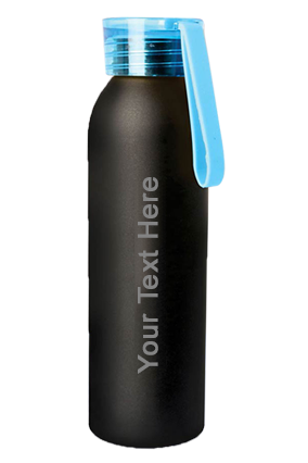 Metal Water Bottle With Black Body (750 Ml Approx)-H162
