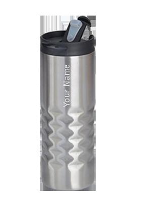 Custom Hammered Steel Flask Inside Steel GM-223