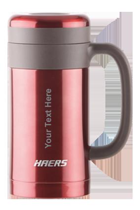 Haers Vacuum Mug 450Ml Red