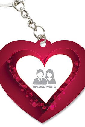 Customized Beautiful Heart Shape Key Chain
