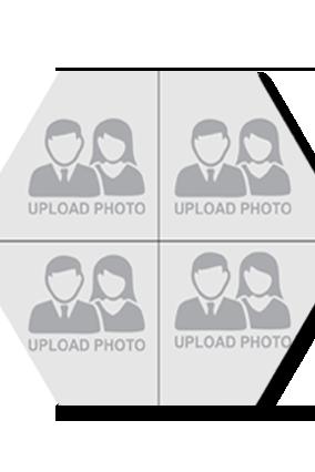 Upload Photo Hexa Coaster Printing