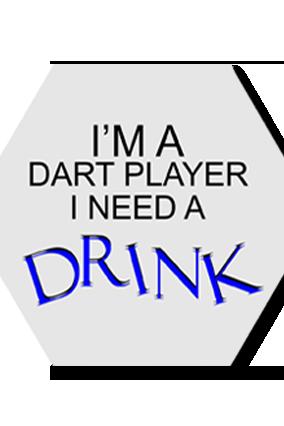 Dart Player Hexa Coaster Printing