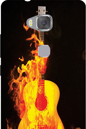 Amazing Huawei Honor 5X Fired Guitar Mobile Cover