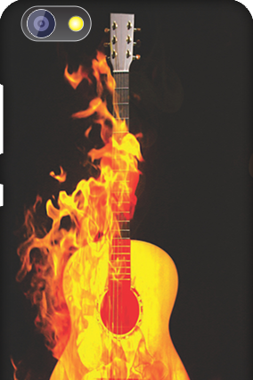 Customised Huawei Honor 4X Fired Guitar Mobile Cover