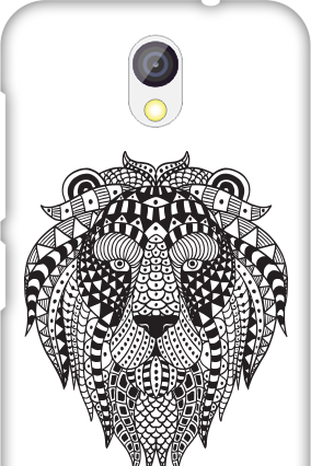 Transparent Silicon - Animal Print HTC Desire 526G Plus Mobile Cover