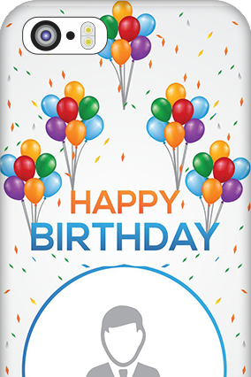 Designer iPhone 5 Happy Birthday Mobile Cover