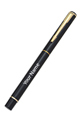 Citibank (Roller) Black With Gold Pen