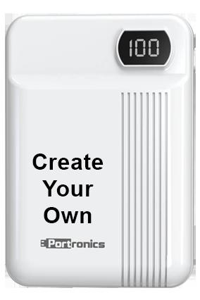 Printed Design Your Own Indo 10D 10000mAh Portronics Power Bank POR-235 White
