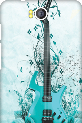 Transparent Silicon - Blue Guitar Intex Aqua 4.5E Mobile Cover