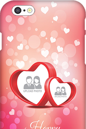 3D IPhone 6  Floral Hearts Anniversary Mobile Cover
