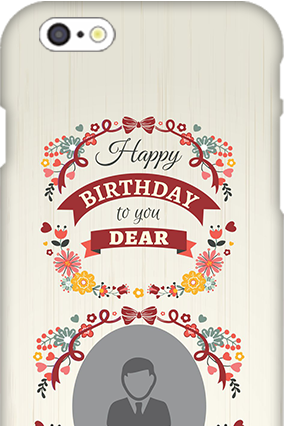 3D IPhone 6  Happy Birthday Dear Mobile Cover