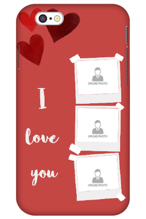 3D-iPhone 6 Beautiful Hearts Customized Plastic Mobile Cover