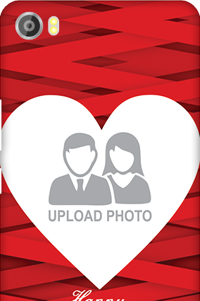 Custom Silicon - Lava Iris X8 Big Heart Valentine's Day Mobile Cover