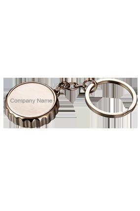 J104 - Metal Crown Shape Keychain With Bottle Opener
