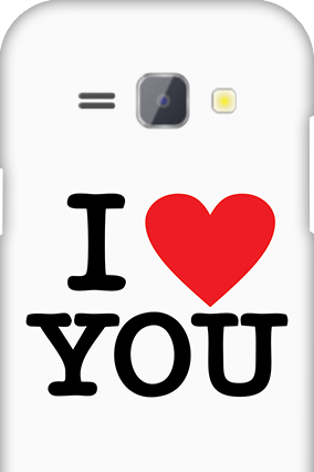 Silicon - Samsung Galaxy J1 I Love You Valentine's Day Mobile Cover