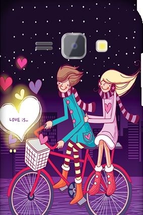 Silicon - Samsung Galaxy J1 Ride Valentine's Day Mobile Cover