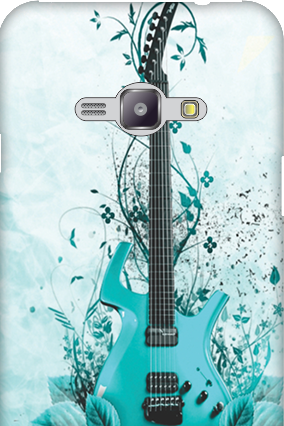 Silicon - Samsung Galaxy J1 Ace Blue Guitar Mobile Cover