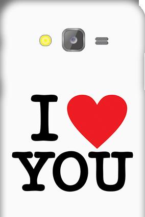 Silicon - Samsung Galaxy J5 I Love You Valentine's Day Mobile Cover