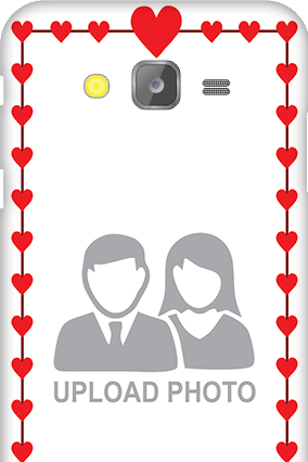 Silicon - Samsung Galaxy J5 Heart Valentine's Day Mobile Cover