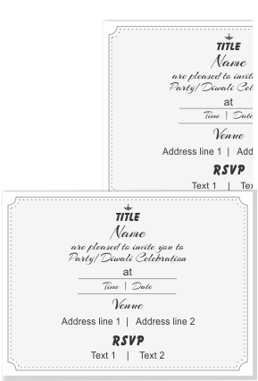 Personalized Create Your Own Invitation Card Double Side