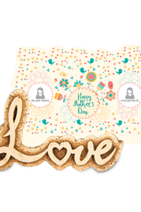 Colorful Mother's Day Love Photo Frame