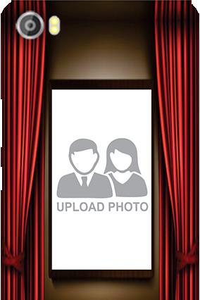 Custom Silicon - Curtain Lava Iris X8 Mobile Cover