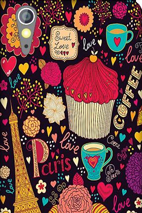 Customized Lenovo A6000 Paris Valentine's Day Mobile Cover