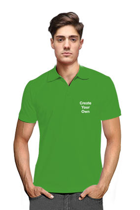 Promotional Create Your Own V Club Collar Light Green T-Shirts
