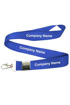 Company Name Light Blue Lanyard