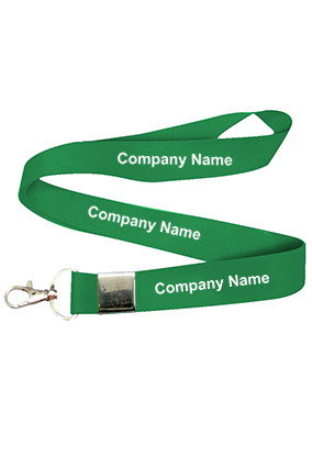 Company Name Green Lanyard