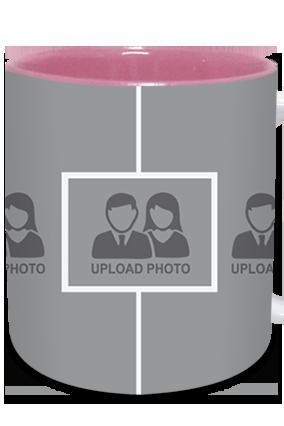 Awesome Upload Photo Inside Pink Mug