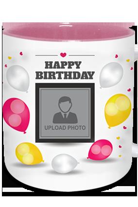 Celebration Inside Pink Mug