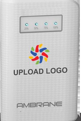 Upload Logo 6000mAh Ambrane Power Bank  White
