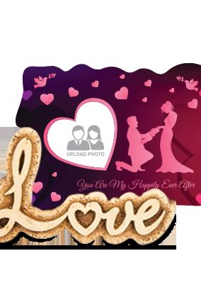 Adorable Wedding Love Photo Frame