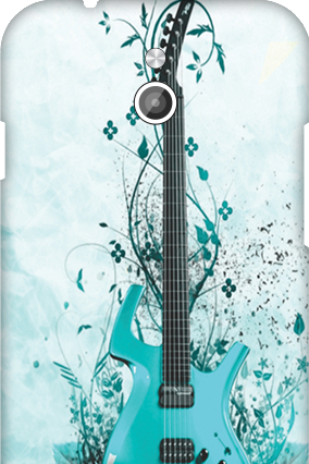 Silicon - InFocus M2 Blue Guitar Mobile Cover