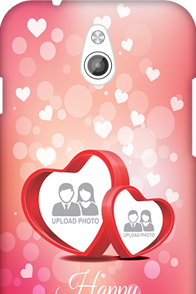 Transparent Silicon - Floral Hearts Anniversary InFocus M2 Mobile Cover