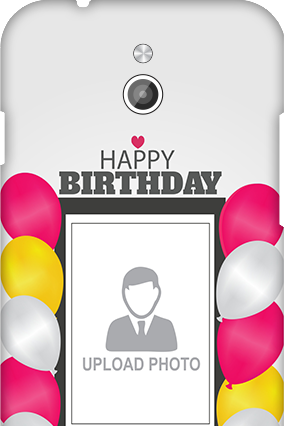 Silicon - InFocus M2 Birthday Greetings Mobile Cover