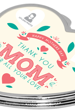Thank You Mother's Day Heart Mirror
