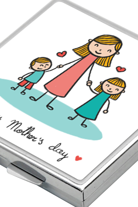 Happy Mother's Day Square Mirror