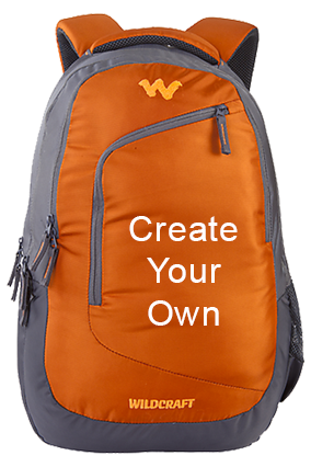 Create Your Own Wildcraft Maestro Orange Laptop Backpack