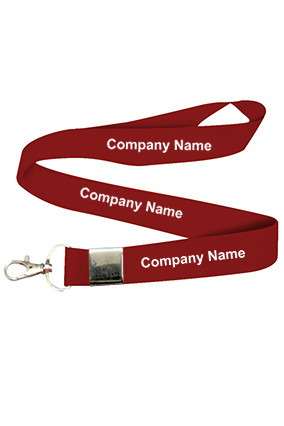 Company Name Maroon Lanyard